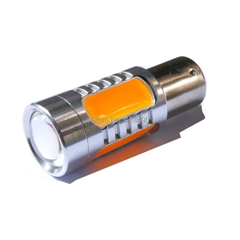 1PCS Super Bright high power 7.5W  CAR LED Lights 1156 Ba15s S25 P21W  Reverse Lights  Bulb with lens white yellow  DC 12V