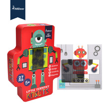 Discover Robot Magnetic Paper Puzzle Early Childhood Steam Toy For Children ou fs8 multifunction early childhood educational music robot toy w interaction led white pink