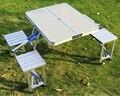 Al aire libre mesas plegables portátiles y sillas combinación de aluminio mesas de picnic y sillas