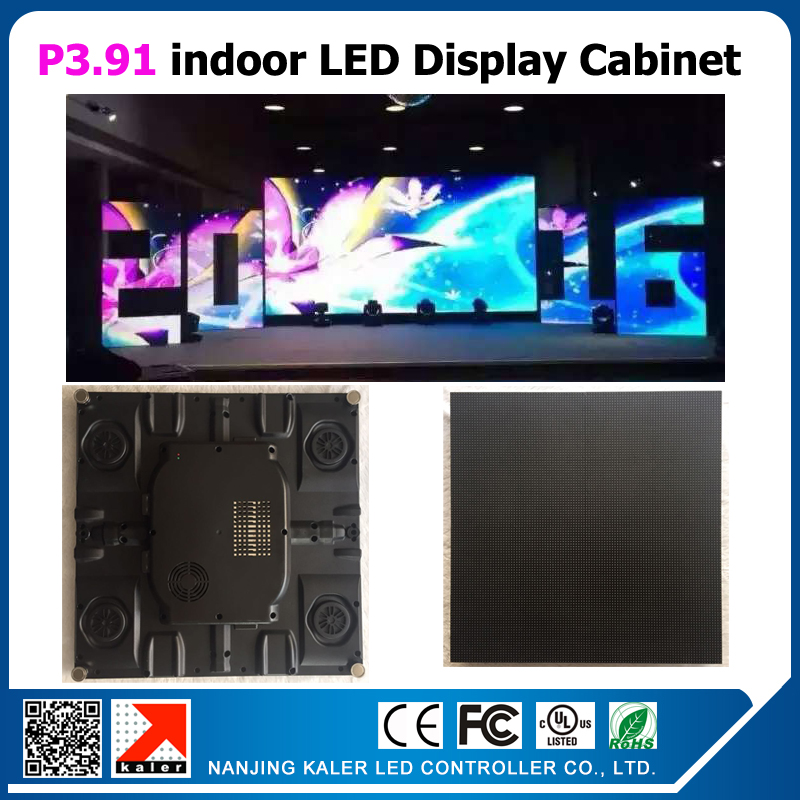 TEEHO 6pcs/lot indoor P3.91 led display thin panel cabinet screen 500x500mm SMD2121 1/16 scan can be shape rental led video wall