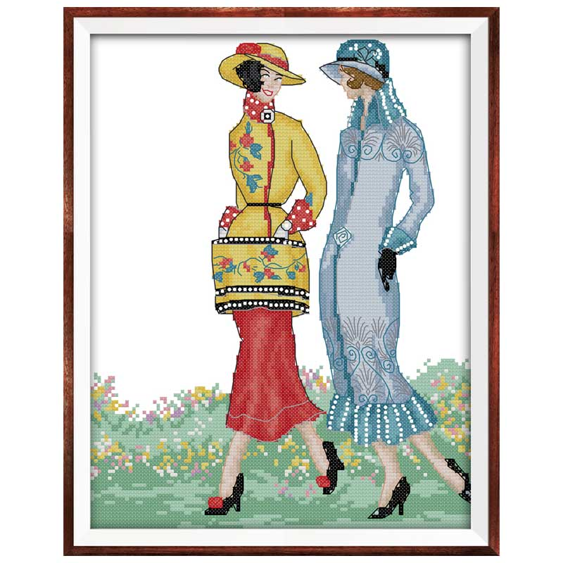 My Fair Lady Painting Counted DMC 11CT 14CT DIY Kit Chinese Wholesale Chinese Cross Stitch Embroidery Needlework Sets Home Decor