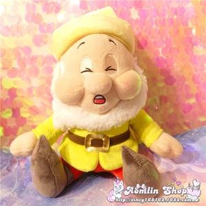 Image 3 - Seven Dwarfs Plush Dolls 25cm 10 Happy Sleepy Sneezy Dopey Grumpy Bashful Girls Toys Gifts