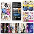 Para htc desire 300 301e caso gel macio de alta qualidade dos desenhos animados tpu macio para htc desire 300 301e casos de telefone celular de volta cobrir