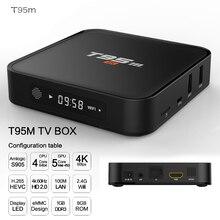 2020 ระเบิด T95M Android Google Internet TV กล่อง S905X Quad Core 64Bit 2GB 8GB 2.4GHz WIFI สนับสนุน 4K HD USB Media Player