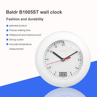 Large Wall   Clock   Modern Design Hanging Watch   Clocks   With Suction Cup Bathroom Waterproof Thermometer   Clock   Needle