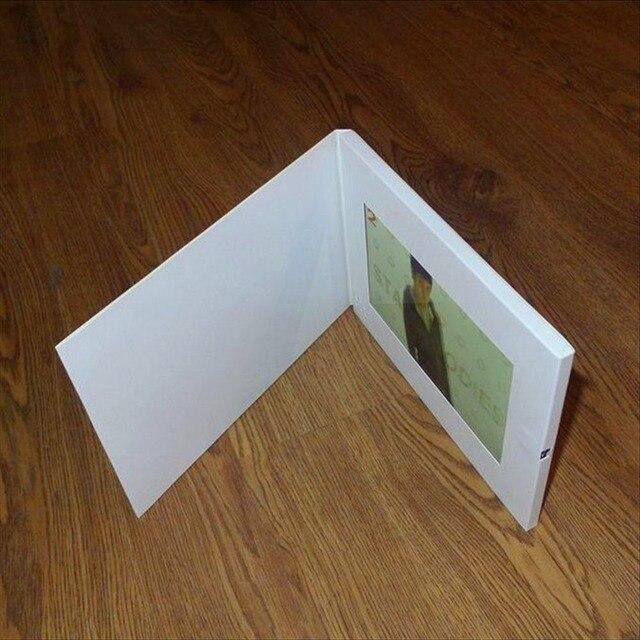 Hd Werbung 7 inch broschüre hd broschüre universal grußkarten mode