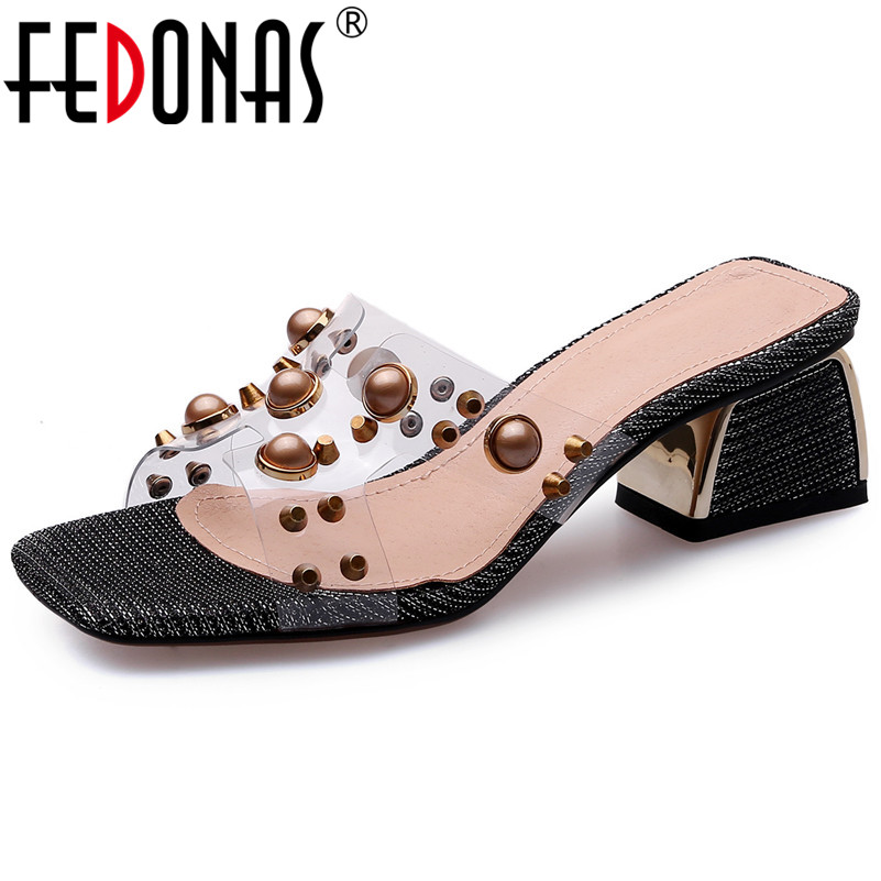 895b94c9e8ed1d Talons Femme Pompes Vintage Mode Chaussures Qualité Carré Fedonas  Décontractées Nouveauté Femmes Parti De Hauts noir ...