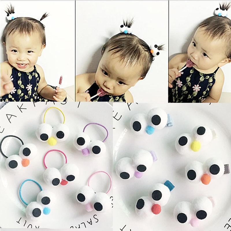 Sale Children Korean Style cute cartoon big eye hair rope Lovely Hair Clips Girls Popular Hair Accessories wholesale