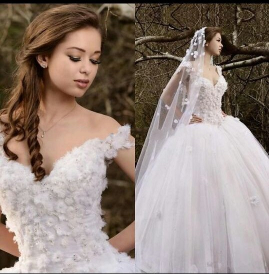 Vestido de noiva Custom made Organza White Beading Sexy Formal ...