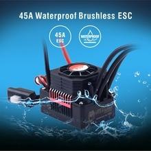 Surpasshobby kk 방수 45a esc 전기 속도 컨트롤러 rc 1/10 1/12 rc 자동차 3650 3660 브러시리스 모터