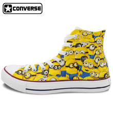 Canvas Sneakers Men Women Converse All Star High Top Hand Painted Shoes Minions Despicable Me Christmas Gifts
