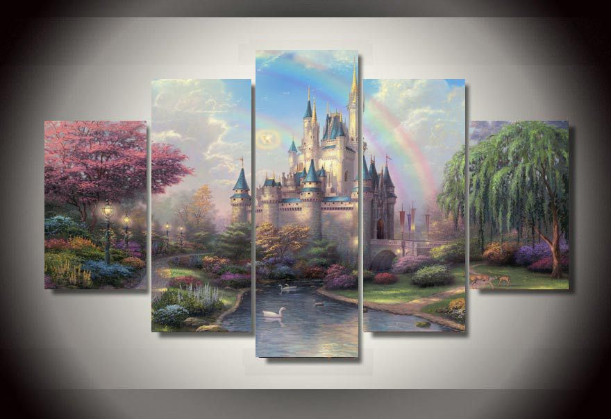buy cinderella castle painting and get free shipping on aliexpresscom