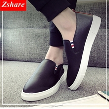 Fashion Men Shoes Casual Leather Shoes Luxury Brand 2019 Mens Loafers Moccasins Breathable Slip on Black Driving Shoes Man Flats fashion leather shoes men casual shoes luxury brand 2019 mens loafers moccasins breathable slip on black driving shoes man flats