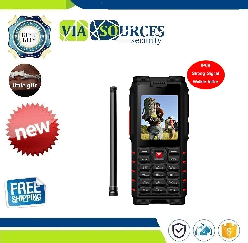 Ioutdoor T2 Rugged Phone IP68 Walkie-talkie Intercom 4500mAh Power Bank Strong Flashlight 2.4
