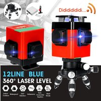 Laser Level 12 Lines 3D Level Self Leveling 360 Horizontal Vertical Cross Super Powerful Blue Laser Level With remote control