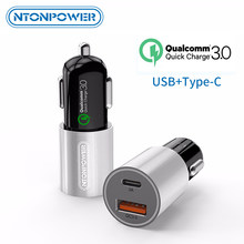 NTONPOWER Mini Quick Charge 3.0 USB Car-Charger For Xiaomi mi 9 Huawei P30 Pro QC3.0 Fast Typr-C PD Car Charging Phone Charger(China)