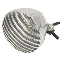 5 Chrome COB LED Deep Cut Grill Motorcycle Headlight For Harley Dyna Softail Sportster Touring V