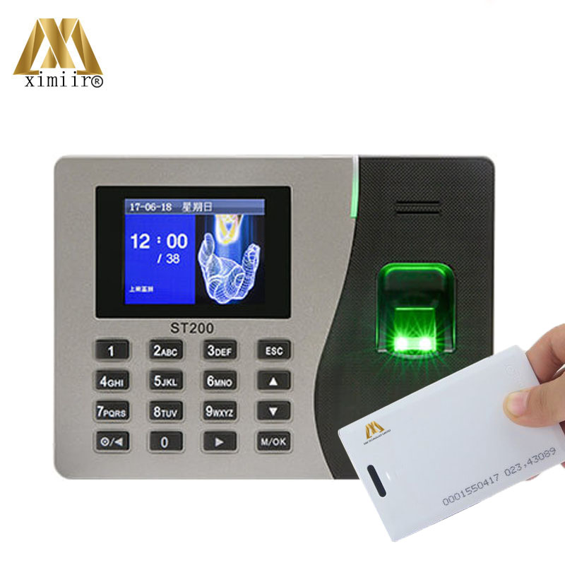TCP IP USB Time Attendance Recorder Card Time Clock Biometric Fingerprint Time Attendance Machine ZK ST200