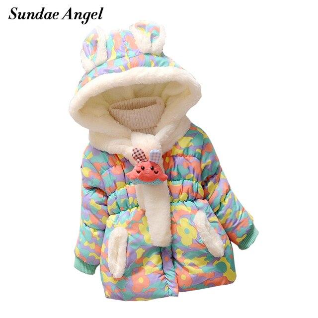 Sundae Angel Kids Baby Girl Winter Jacket Coat Hooded Cartoon