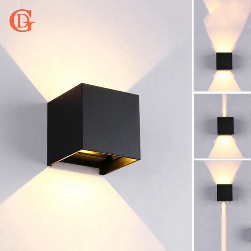 GD 7W Wall Lamp IP65 Adjustable Surface Mounted LED Wall Light Outdoor Wall Sconce COB High brightness Up and down Wall lamps gd 6w 12w wall lamp ip65 adjustable surface mounted led wall light outdoor wall sconce cob high brightness up and down wall lamp