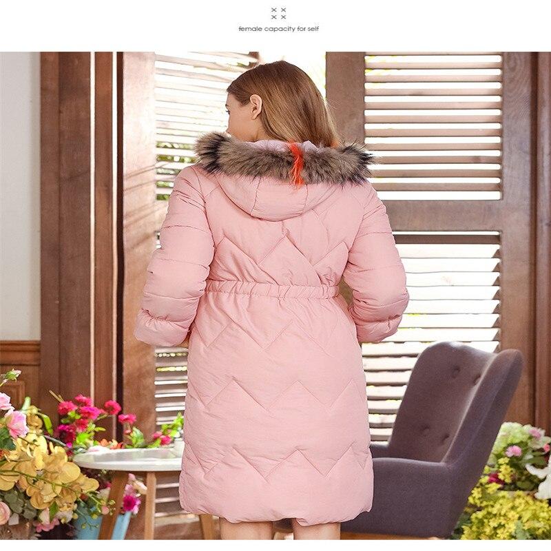 Lâche Longues Automne Nouvelle Costume Coton D'hiver Et Épais Veste Capuchon Manches Sergé 2018 À Long BXAHRA