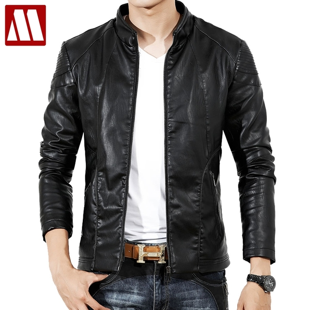 674ded93af6 2019 Fall Top Quality Boutique Brand Leather Jacket Men Slim Fit Male  Leather Jackets Casual Jackets