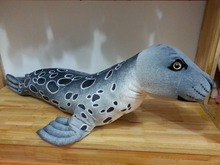 new plush big seal toy stuffed gray seal doll gift about 108cm