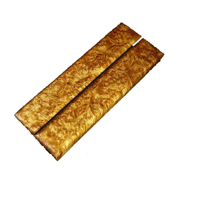 Handmade Wood Material Myanmar Gold Camphorwood Knife Handle Material Plate Wood Wood Carving Material 25cm Around -1 Piece