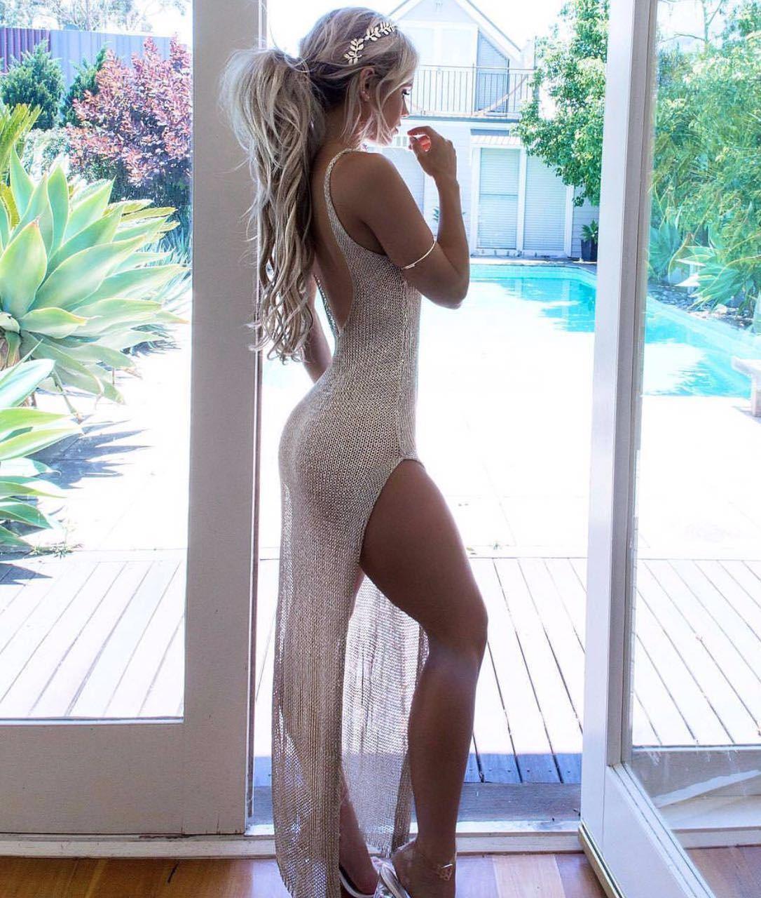 New Hot Sale Summer Mesh Sheer Long Cover-Ups Women Bathing Suit Bikini Cover Up Beach Dress Swimwear Swimsuit Dress(China)