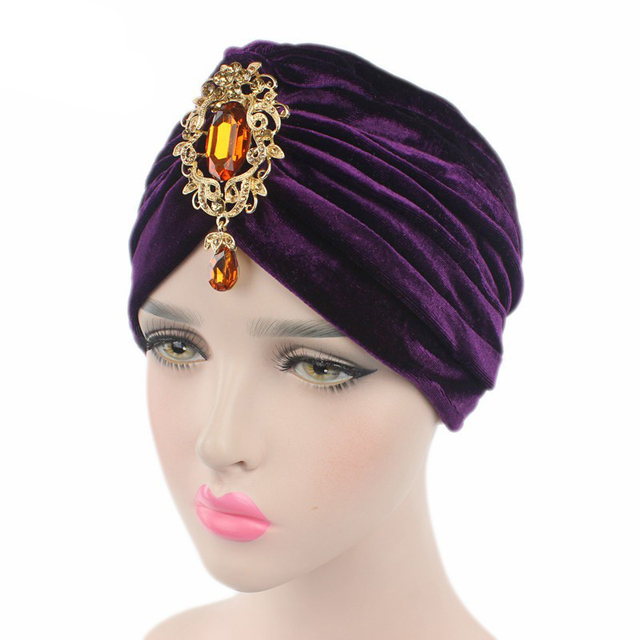 Women Muslim Hijab Hats Velvet Stretch Full Turban Headwear Hat Muslim  Hijab Inner Cap Islamic Ramadan Arab Caps e60b3344a5e5