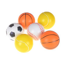 Investment 1 PC Soft Foam Ball Wrist Exercise Stress Relief Squeeze Tennis Ball/Basketball/Football Gift Toy Fitness Balls 7CM Diameter saleoff