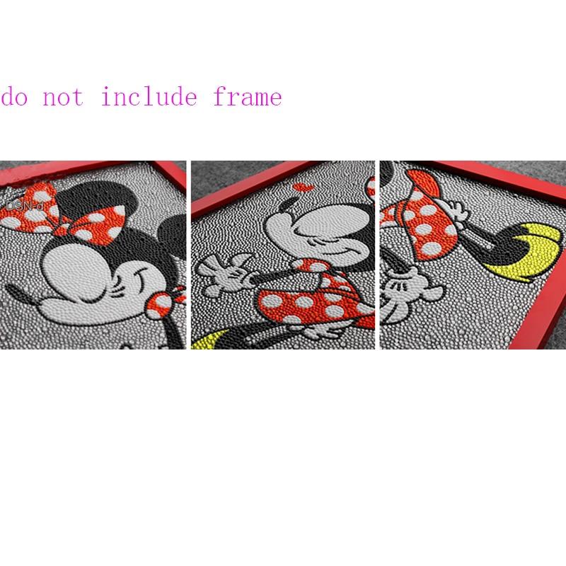 Diamant Schilderen Minnie Mouse Mooie Diy 5d Diamant Schilderen