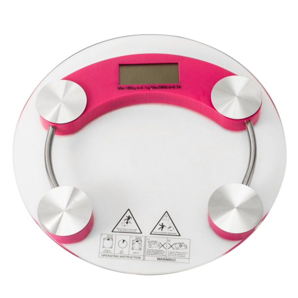 180kg Glass LCD Electronic Digital Body Weight Bathroom Weighing Scale