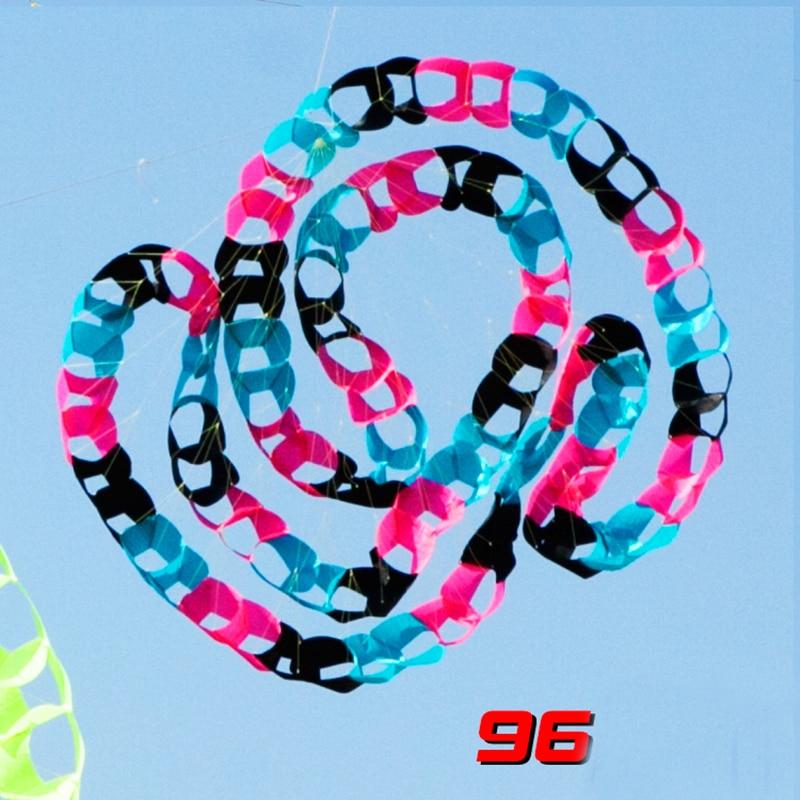 Livraison gratuite grand cerf-volant windchaussette jouets de plein air cerf-volant de puissance 96 trous queue d'arc-en-ciel cerf-volant albatros surf plage amusant dragon volant - 3