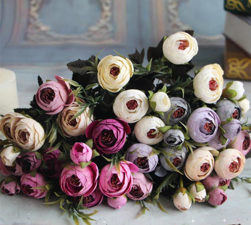 jefes de seda rosa de t arreglo de flores nupcial ramo de flores ramo