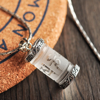 White Crystal 925 Sterling Silver Pendant Men Thai Silver Fine Jewelry Gift Necklace Accessories CH037293