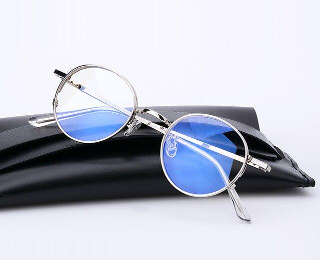 2017 Nova Moda Rodada Do Vintage Óculos de Armação de Metal Caro Clássico  Suave Computador Marca ed05e0f94d