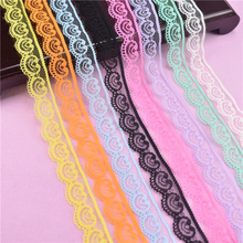 10 Yards/Lot Lace Ribbon Tape 22MM Wide White Lace Trim Handicrafts Embroidered Net Cord  Sewing Decoration African Lace Fabric 10 meters lace ribbon tape 45mm wide trim fabric diy handicrafts embroidered net cord for sewing decoration african lace fabric