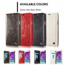 Роскошные оригинальные caseme Etui для Samsung Galaxy S6 S6 край S7 S7 край S6 Edge Plus Кожаный чехол Магнит откидная Кошелек для карт памяти