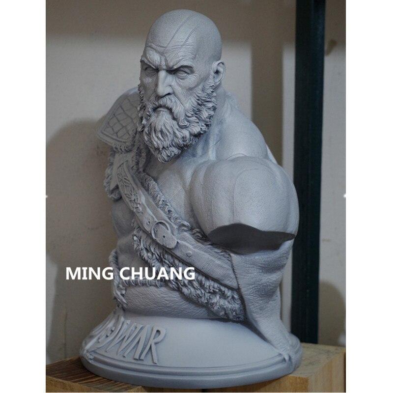 God Of War արձան Kratos 1: 3 Ghost Of Sparta Bust Son Zeus - Խաղային արձանիկներ - Լուսանկար 5