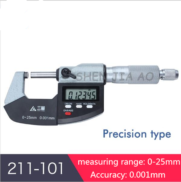 цены  0-25mm Micrometer Electronic digital Caliper gauge mikrometer micrometro digitale