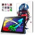 Для Lenovo Tab 2 A10 30 красочные print leather case cover для lenovo tab 2 a10-30 X30F X30L tablet 10.1 дюймов Магнит case