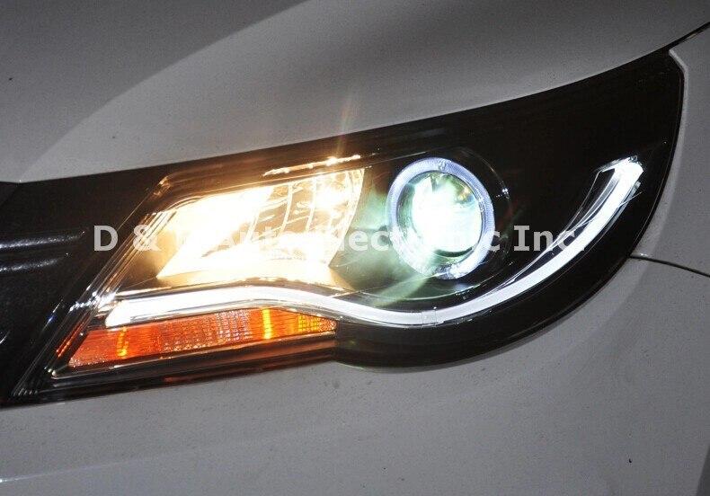 1 пара абсолютно новые светодиодные фары светодиодный фонарь Светодиодные фары для Volkswagen Tiguan 2010-2012'