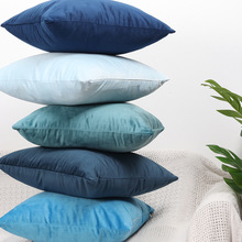 Роскошный синий бархатный чехол для подушки, наволочка для подушки, зеленый, желтый, розовый, серый, белый, черный, Декоративные диванные подушки для дома