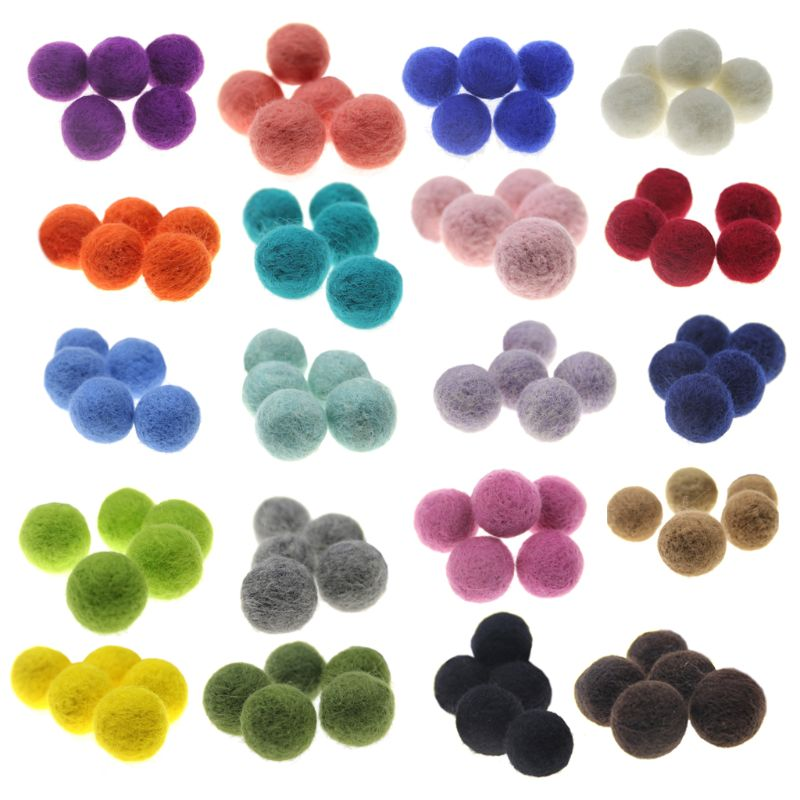 Welding Equipment Humor 20pcs 2cm Wool Felt Balls Newborn Photography Props Round For Baby Girls Diy Room Party Decoration