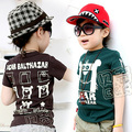 Free shipping!New 2015 Summertime child clothing,baby boys Short-sleeved t-shirt,Casual,Cartoon boys clothes.boys tops.kids wear