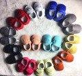 Venta caliente zapatos de bebé de cuero genuino suela dura primer caminante del bebé zapatos mocasines niños franja niño moccas zapatos de los niños