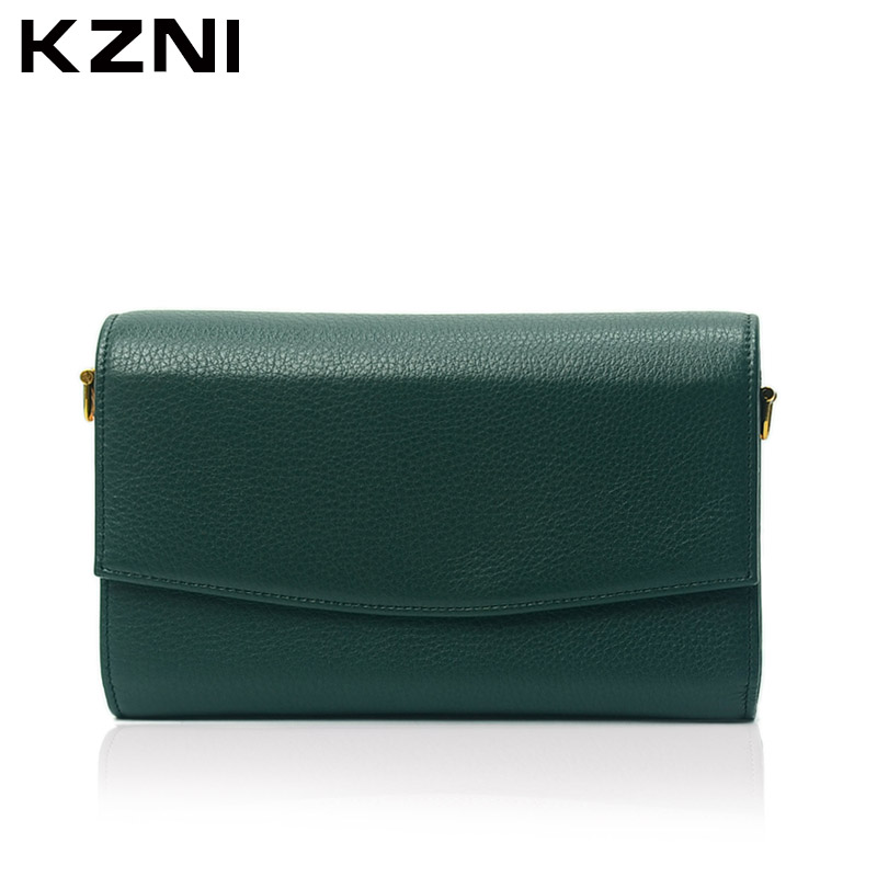 KZNI Women Crossbody Shoulder Clutch Small Bags Female Genuine Leather Purses and Handbags Bolsos De Mujer 2148 high quality vintage small crossbody bags for women genuine leather tassel handbags and purses female clutches 8370