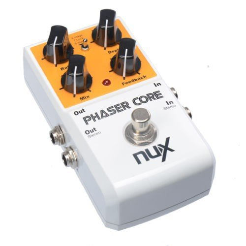 nux phaser core guitar effects pedal modulation stomp effect pedal tone lock preset function. Black Bedroom Furniture Sets. Home Design Ideas