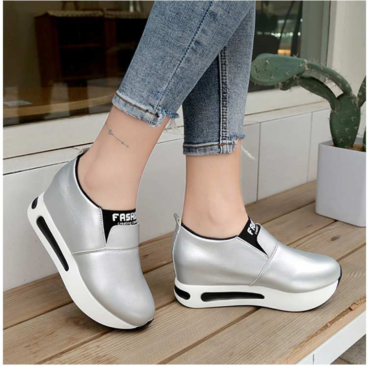 Vulcanize shoes women casual shoes 2019 new fashion solid pu women sneakers slip-on breathable shoes woman zapatos de mujer (3)